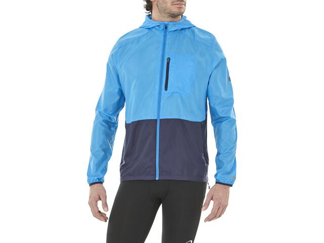 asics Packable Jacket Herren race blue/peacoat